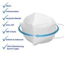 Vorschau: 10er Satz Mundschutz Atemschutzmaske KNXX Mund-Nasen-Schutz 4-lagig Schutzmaske
