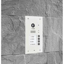 Vorschau: BALTER EVIDA Weiss RFID Edelstahl-Türstation 4 Teilnehmer 2-Draht BUS 170° Ultra-Weitwinkelkamera