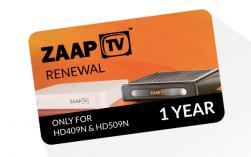 ZaapTV -Arabic- 1 Jahr Verlängerung für HD409N, HD509N, HD609N usw.