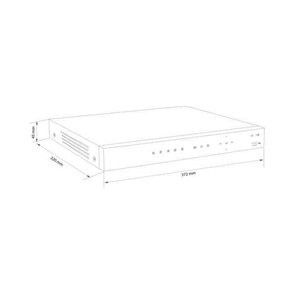 Balter BNR-1116PII 16-Kanal 3840x2160p H.265 PoE 4K Netzwerk Kamera Rekorder