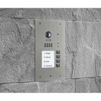 Preview: BALTER EVIDA Silber RFID Edelstahl Video Türstation 4 Teilnehmer 2-Draht BUS 170° Kamera