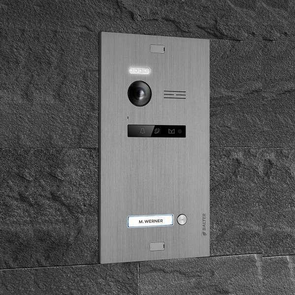 Balter EVO SILVER Video-Türsprechanlage 2x7 Touchscreen 2-Draht BUS Komplettsystem für 1 Teilnehmer