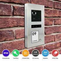 Preview: Balter ERA Silber RFID 2-Draht BUS IP Türstation 1 Familienhaus 150° Weitwinkelobjektiv Aufputz