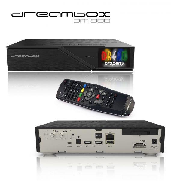 Dreambox DM900 UHD 4K 1x DVB-S2 Dual Tuner E2 Linux PVR Receiver Vorführgerät