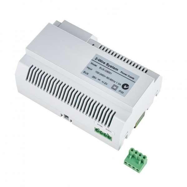 Balter EVIDA Silber RFID 2-Draht BUS Video Türstation 2x7 Monitor Set für 1 Familienhaus