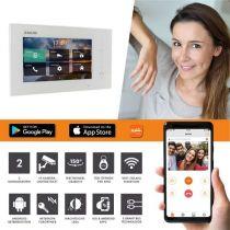 Vorschau: Balter ERA Silber RFID 2-Draht IP 7 WiFi Video Türstation Aufputz iOS Android Set 2 Familienhaus