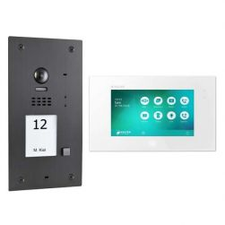 BALTER EVIDA Graphit RFID Edelstahl 2-Draht BUS Video Türstation 7 Monitor 1 Familienhaus Set