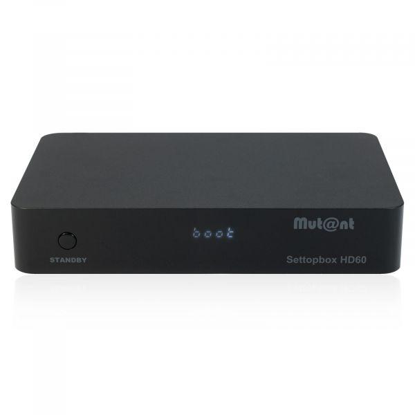 Mutant HD60 4K UHD 2160p E2 Linux + Android DVB-S2X Sat Receiver