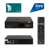 Vorschau: Telesystem TS9018 Full HD HEVC H.265 Smartcard HDMI DVB-S2 Sat Receiver mit Tivusat HD Karte