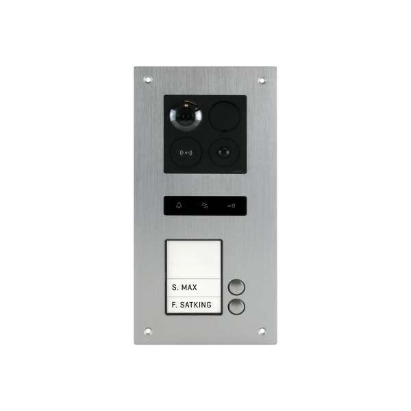 BALTER ERA Silber RFID 2-Draht BUS IP Türstation für 2 Familienhaus 150° Weitwinkelobjektiv