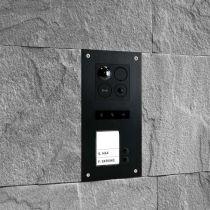Preview: BALTER ERA Schwarz RFID 2-Draht BUS IP 7 WiFi Video Türstation iOS Android App für 2 Familienhaus