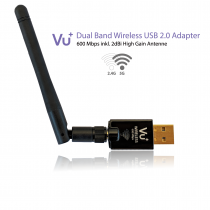 Vorschau: VU+® Dual Band Wireless USB 2.0 Adapter 600 Mbps inkl. Antenne
