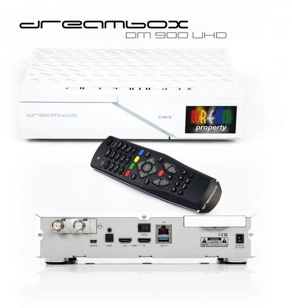Dreambox DM900 WE UHD 4K DVB-S2 FBC Twin Tuner E2 Linux PVR Receiver