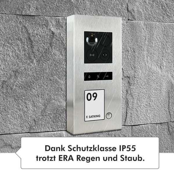 Balter ERA Silber RFID 2-Draht BUS IP Türstation 1 Familienhaus 150° Weitwinkelobjektiv Aufputz