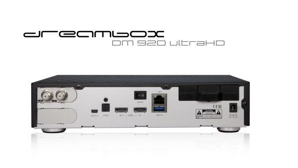 Dreambox DM920 UHD 4K 1x DVB-S2 Dual Tuner E2 Linux PVR Receiver