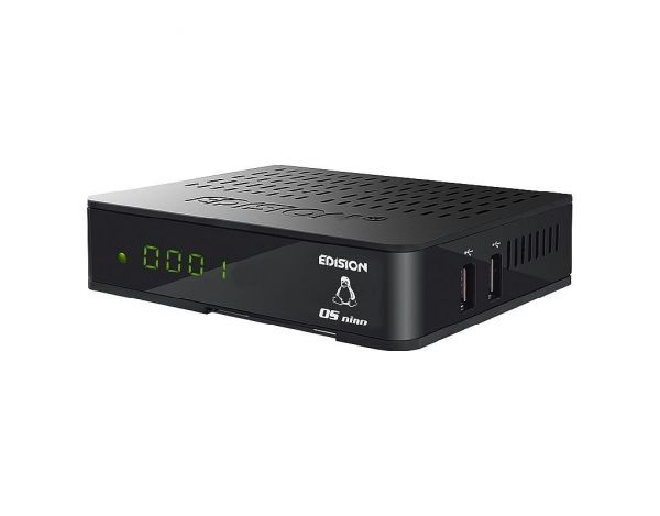 Edision OS nino+ 1x DVB-S2 Full HD 1080p H.265 Linux Sat-Receiver schwarz