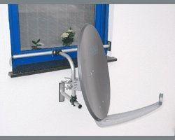EasyMount Halterungssystem - Fensterhalterung für Sat-Antenne