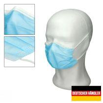 Vorschau: 50er Satz Mundschutz Atemschutzmaske Mund-Nasen-Schutz 3-lagig Schutzmaske Blau