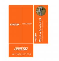Preview: Selfsat Original Fensterhalterung Set für H30 / H21 Antennen