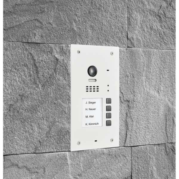 BALTER EVIDA Weiss RFID Edelstahl-Türstation 4 Teilnehmer 2-Draht BUS 170° Ultra-Weitwinkelkamera