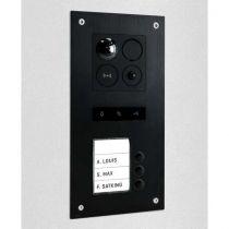 Preview: BALTER ERA Black RFID 2-Draht BUS IP Türstation für 3 Familienhaus 150° Weitwinkelobjektiv