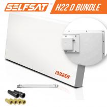 Vorschau: Selfsat H21D+ 1 TV Teilnehmer SAT Flachantenne FLAT + Fensterdurchführung FULL HD