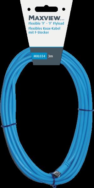 Maxview flexibles Sat-Kabel mit F-Anschlüssen 3,0m