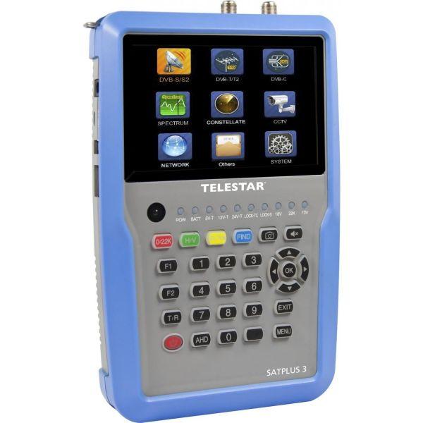 TELESTAR SATPLUS 3 H.265 HD für DVB-S/S2/T/T2/C IPTV COMBO Satfinder mit Spektrum