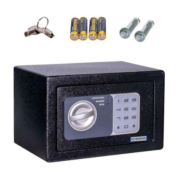 Anadol Tresor Basic ? elektronischer Mini-Tresor mit Zahlenschloss & Notfallschlüsse 4L