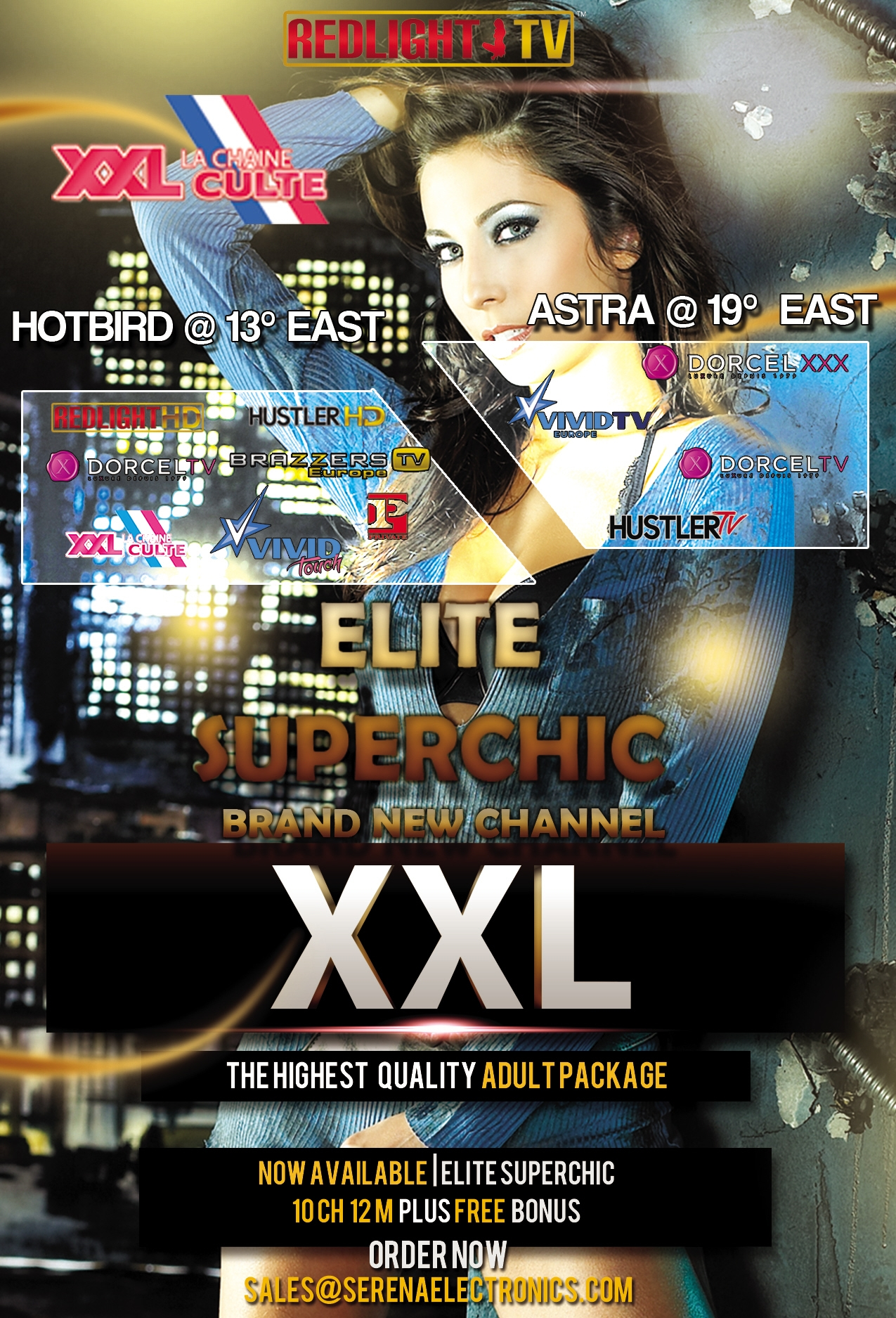 Redlight Elite Superchic 12 Sender Viaccess Smartkarte 12 Monate inkl. Brazzers TV