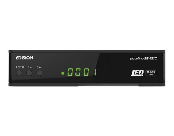 Edision piccollino S2 + T2/C Full HD Combo Receiver schwarz