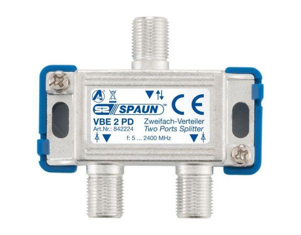 Spaun VBE 2 PD 2-fach Verteiler BK-tauglich