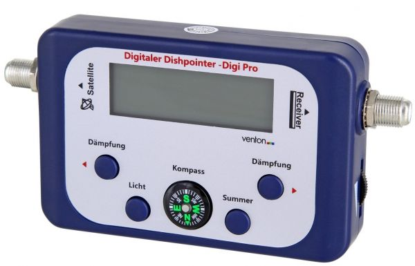 Venton Satellitenfinder Dishpointer DIGI-PRO Premium-LCD Finder