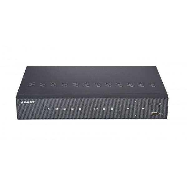BALTER BNR-1104PII 4-Kanal 3840x2160p H.265 PoE 4K Netzwerk Kamera Rekorder