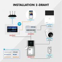 Preview: Balter EVO-AP Silber Video Türsprechanlage 7 WiFi Touchscreen RFID 2-Draht BUS Set für 4 Teilnehmer