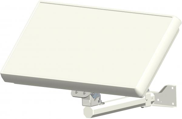 Selfsat H2D1+ 1 TV Teilnehmer SAT Flachantenne FLAT + profi Fensterdurchführung + Kabel FULL HD 4K