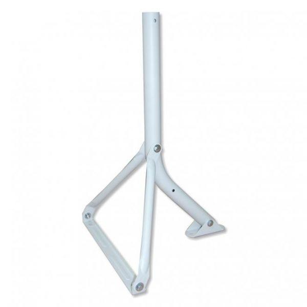 Wandhalter / Standfuß Stahl I-F1 T55 lichtgrau