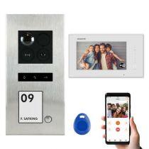 Vorschau: Balter ERA Silber RFID 2-Draht IP 7 WiFi Video Türstation Aufputz iOS Android Set 1 Familienhaus