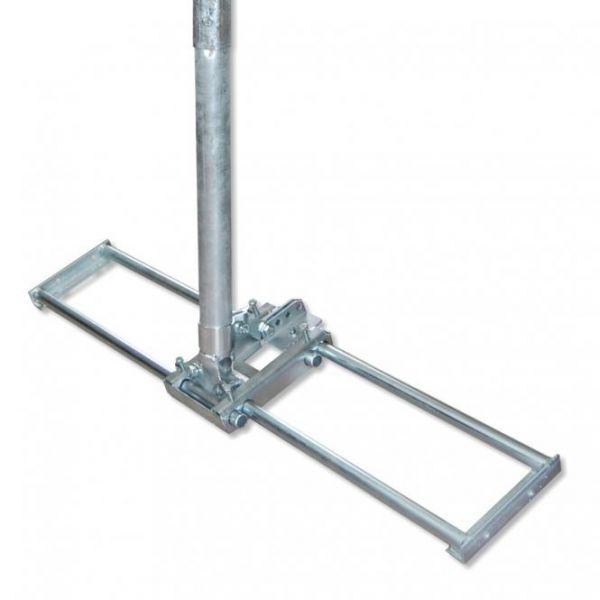 Dachsparrenmasthalter zw. 2 Sparren verstellbar