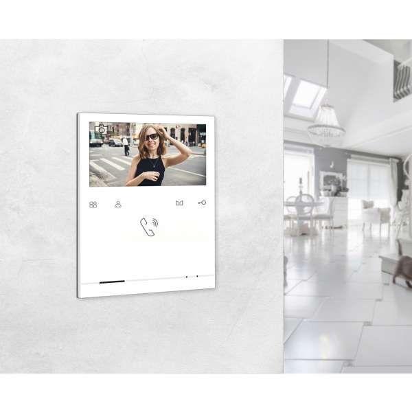 Balter EVO Silber Video Türsprechanlage Quick Monitor 2-Draht BUS Komplettsystem für 4 Teilnehmer