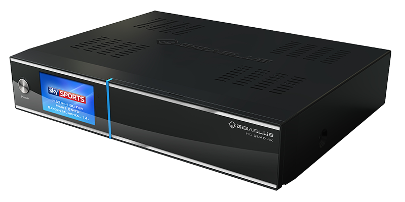 GigaBlue UHD Quad 4K Receiver 2x DVB-S2 FBC 1x DVB-C/T2 Tuner 1TB HDD