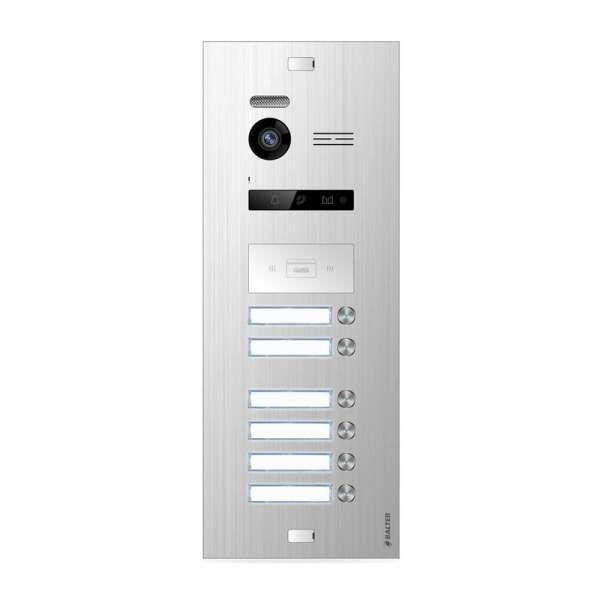 Balter EVO SILVER Video-Türsprechanlage 7 Touchscreen 2-Draht BUS Komplettsystem für 6 Teilnehmer