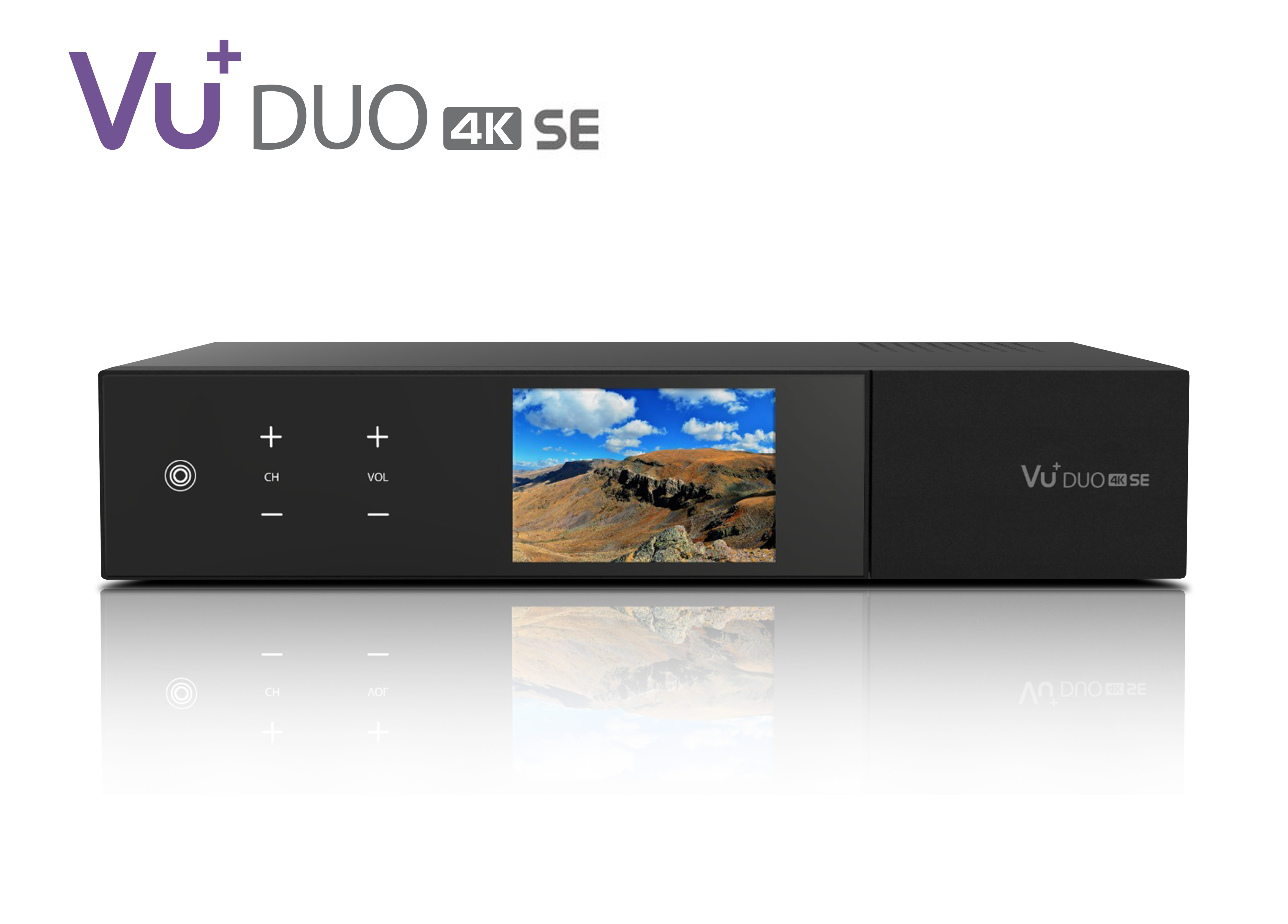 VU+ Duo 4K SE 1x DVB-C FBC Tuner 500 GB HDD Linux Receiver UHD 2160p