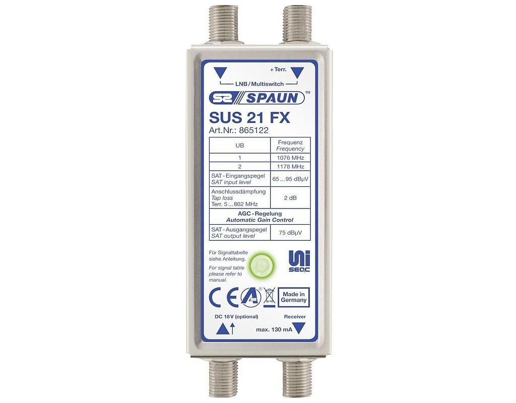 Spaun SUS 21 FX UNiSEqC Einkabelsystem EN 50494/ EN 50607