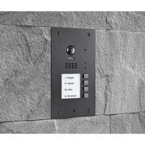Vorschau: BALTER EVIDA Graphit RFID Edelstahl-Türstation 4 Teilnehmer 2-Draht BUS 170° Ultra-Weitwinkelkamera