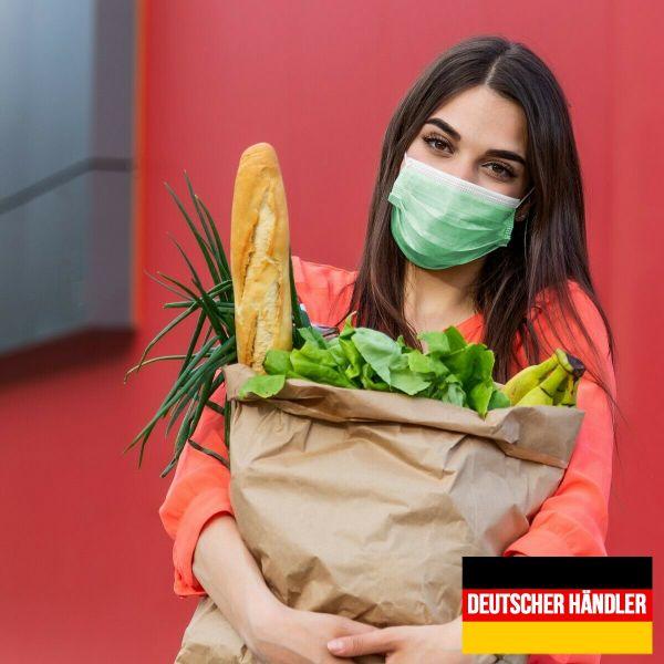 50er Satz Mundschutz Atemschutzmaske Mund-Nasen-Schutz 3-lagig Schutzmaske Türkis