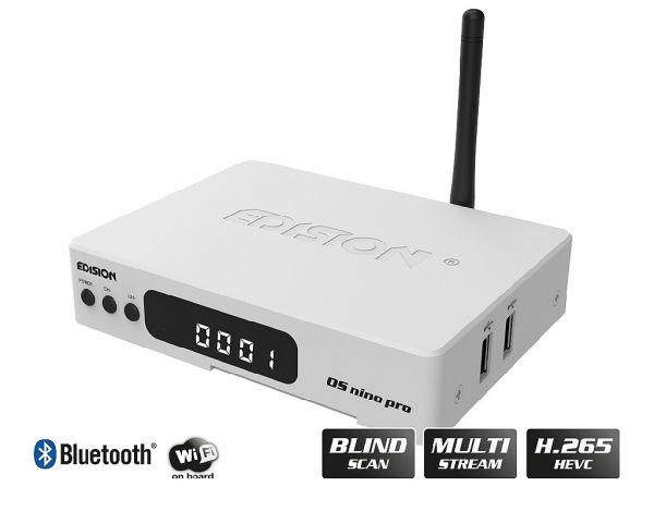 Edision OS nino pro DVB-S2X + DVB-T2/C Full HD Receiver weiß