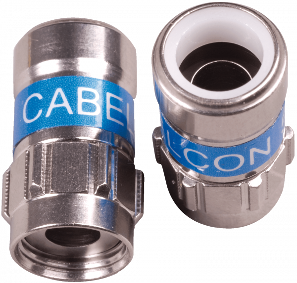 Cabelcon F-56 5.1 W Self Install NiTin mit O-Ring F-Kompressionsstecker RG6 / 7 mm