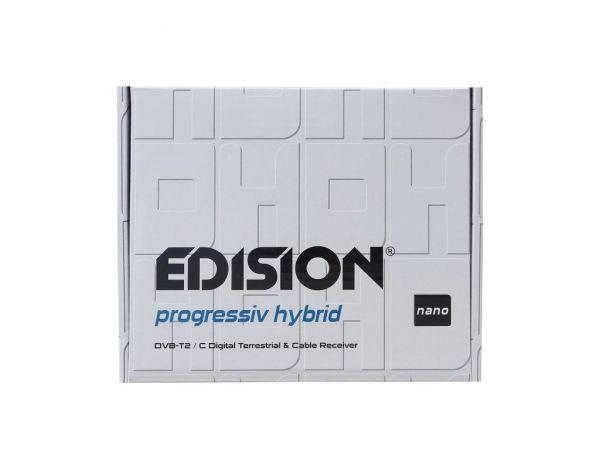 Edision progressiv hybrid nano DVB-C/T2 HD Kabel-Receiver weiß