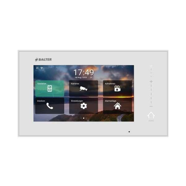 BALTER ERA Silber RFID 2-Draht BUS IP 7 WiFi Video Türstation iOS Android App für 3 Familienhaus